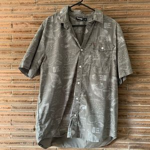 Vans gray button-down shirt